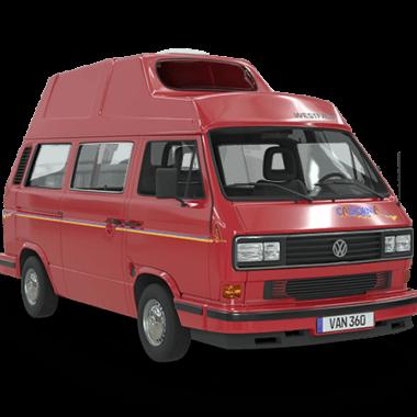 VW Bus Konfigurator California rot Hochdach