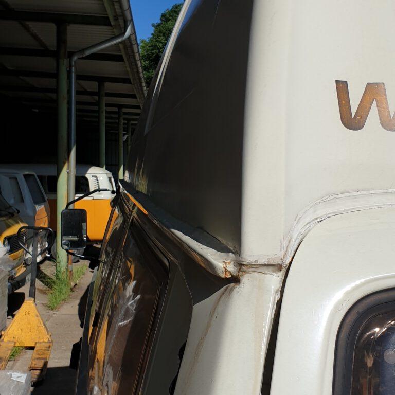 Regenrinne T3 Westfalia restaurieren