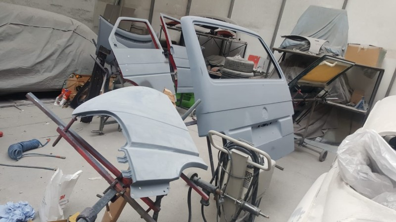 VW T3 Lackierung Vorbereitung