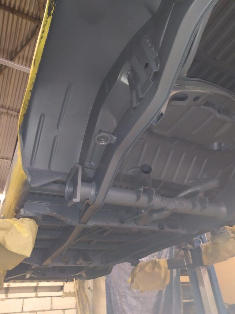 Unterbodenbeschichtung VW T2