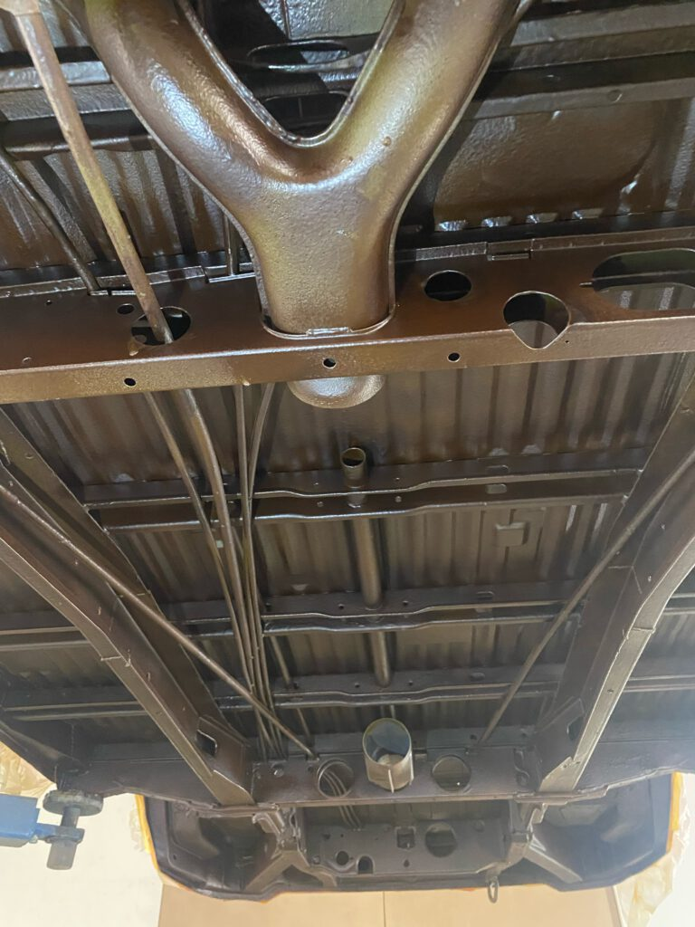 Beschichtung Unterboden VW T2